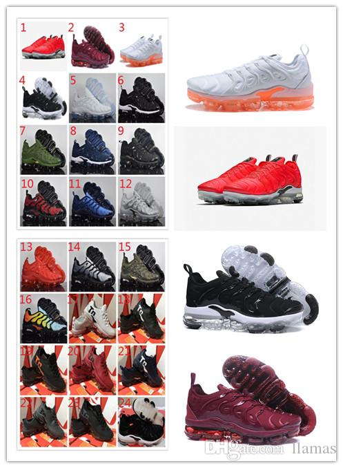 d93063f4bb226 2018 Cheap Maxes VM TN Plus Running Shoes USA Grape RED In Metallic White  Orange Triple Black Silver Mens Womens Run Shoe Kids Sneakers Kids Sport  Shoes ...