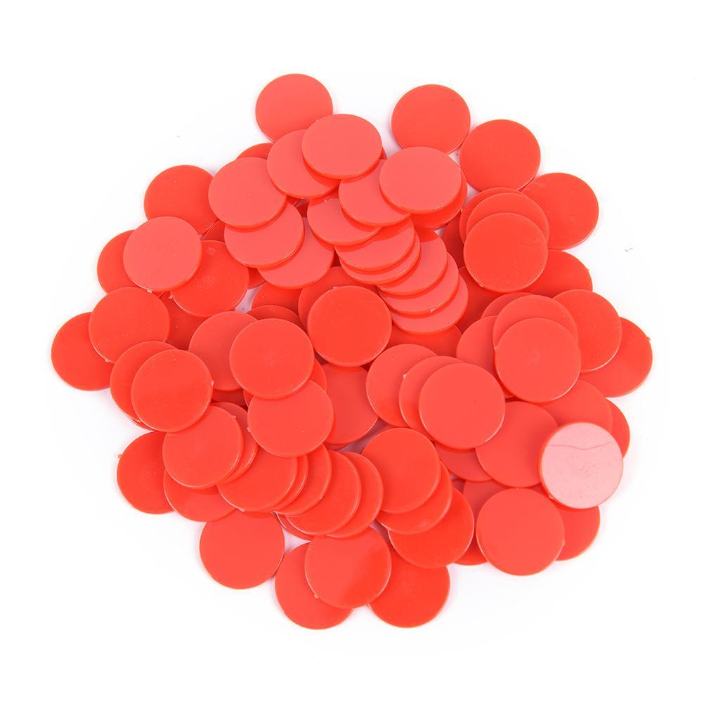 Creative Gift Accessories Plastic Poker Chips Casino Bingo Markers Token Fun Family Club Game Toy 100x 24MM