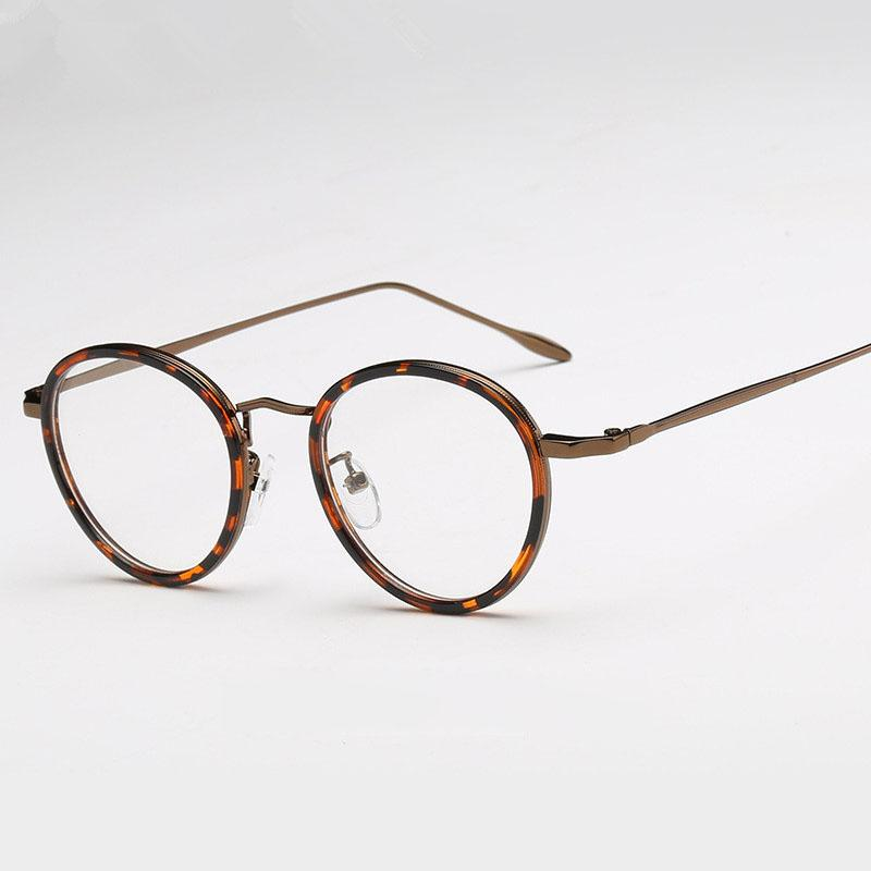 aaae564d7d2 2019 Vintage Round Spectacles Eyeglass Frame Women Men Retro Clear Glasses  Frame Woman Transparent Optical Eye Glasses Man Eyewear From  Marquesechriss