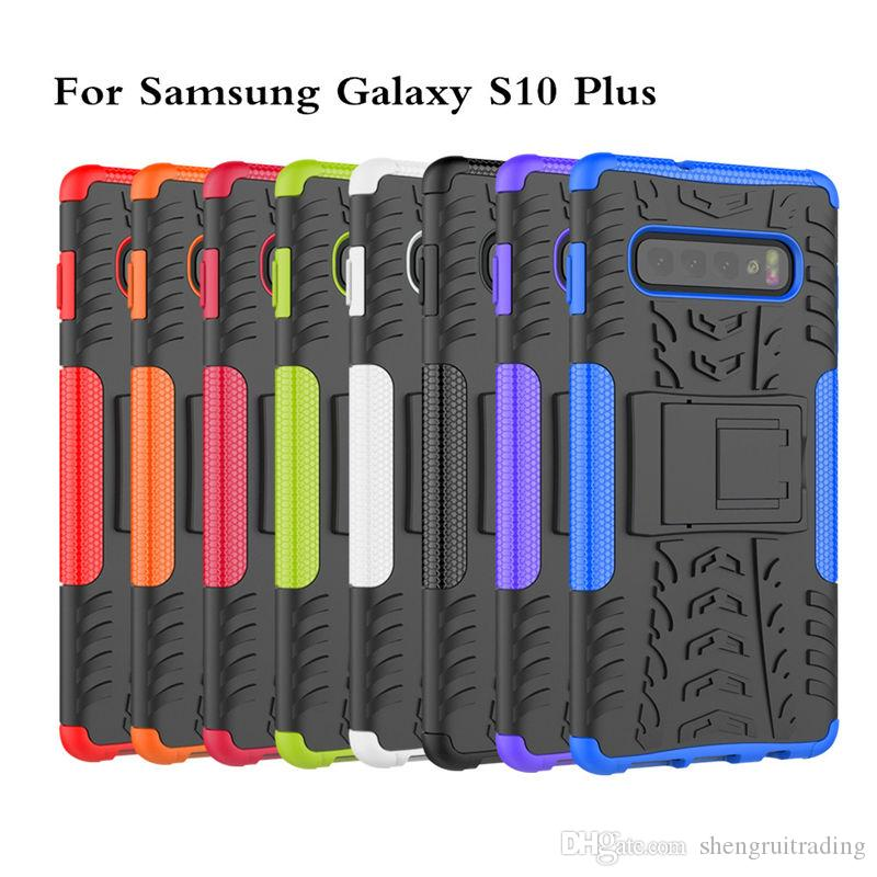 New Hybrid Kickstand Rugged Rubber Armor Hard PC+TPU 2 In 1 Case Stand Case For Samsung Galaxy S10e S10 Plus A6S A8S
