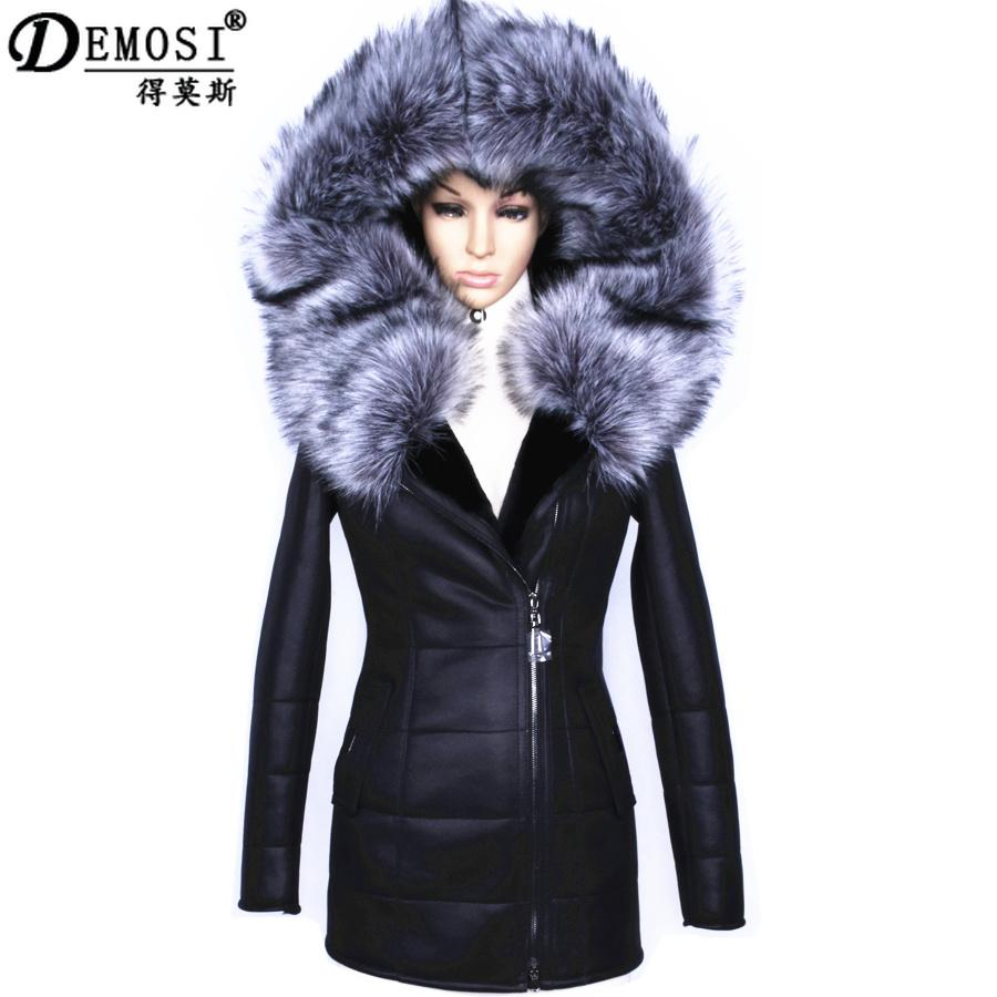 Factory direct supplier winter 2017 new women fur coat  fashion Diamonds Leather belt suede Faux thicker female Hooded Jacket