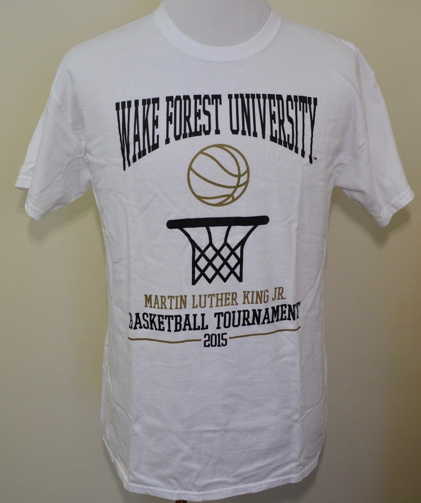 5a8d1bab6 Wake Forest Demon Deacons T Shirt White Large MLK Jr. Basketball 2015 Funny  Unisex Casual The Coolest T Shirts T Shirt Shirt Designs From  Themusicstore, ...