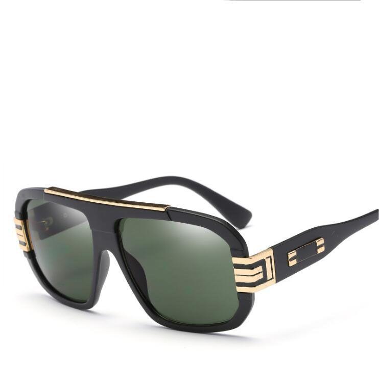 9251263410 Compre Gafas De Sol Retro Hombre 2019 Nueva Marca Gafas De Sol Grandes Del  Marco Para La Seguridad Masculina Que Conduce Gafas De Sol UV400 Gafas  Vintage A ...