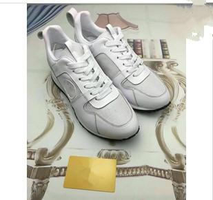 2019 Classic Genuine Leather Arena Brand Flats Sneakers Male High Top Shoes Fashion Luxury Casual Lace Up Shoes Size 35-42 yy18062802