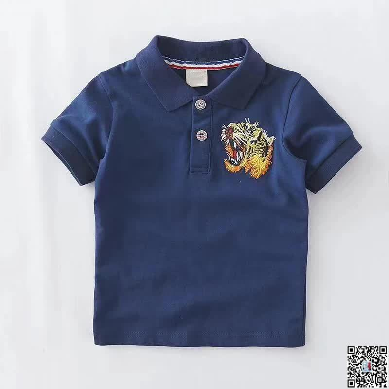 2019 New Fashion Boys And Girls Casual Designer Tiger Baby Boy Clothes Head  Embroidery Logo Short Sleeved Shirt T Shirt UK 2019 From Zhenpai1 72cc35eefb37