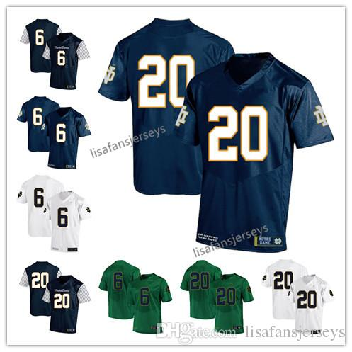 0f9af03b569 Mens Notre Dame Fighting Irish Jerseys 6 Jerome Bettis 20 C.J. Prosise 2019  Navy White Green USA Flag College Football NCAA Jersey Mens Notre Dame  Fighting ...