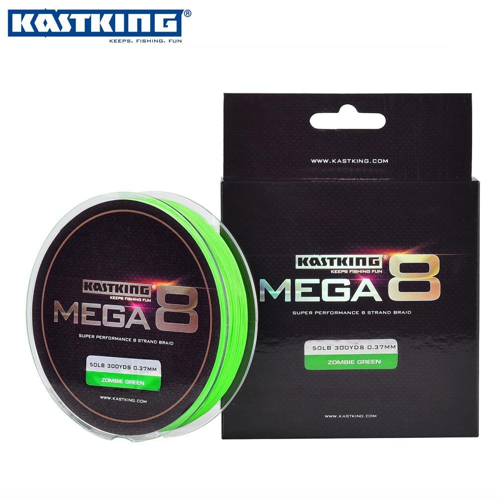 Wholesale-KastKing 300Yds/274M 0.14-0.45mm 8 Strands PE Braided Fishing Line Multifilament Fishing Line Green 20-80LB Saltwater Fish Wire