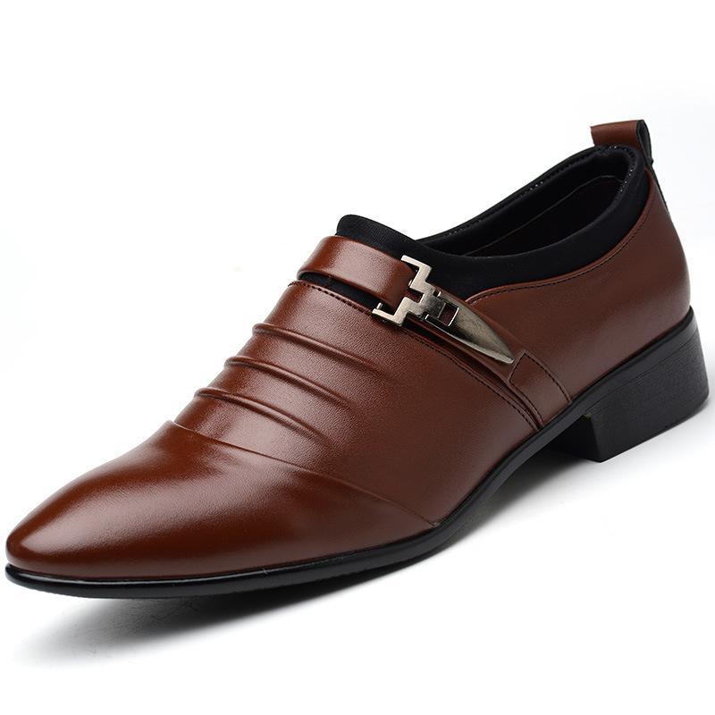 3e3f558ff84d0 Spring And Autumn The Fashion Leisure Men s Dress Shoes White Black ...
