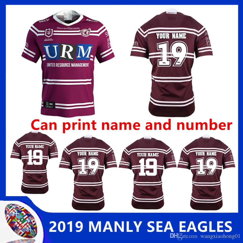 aa8d86866 2019 NRL RUGBY JERSEY MANLY SEA EAGLES 2019 HOME JERSEY Manly Sea Eagles  Home Jersey NRL National Rugby League Size S - 3XL Can Print New Zealand  Australia ...
