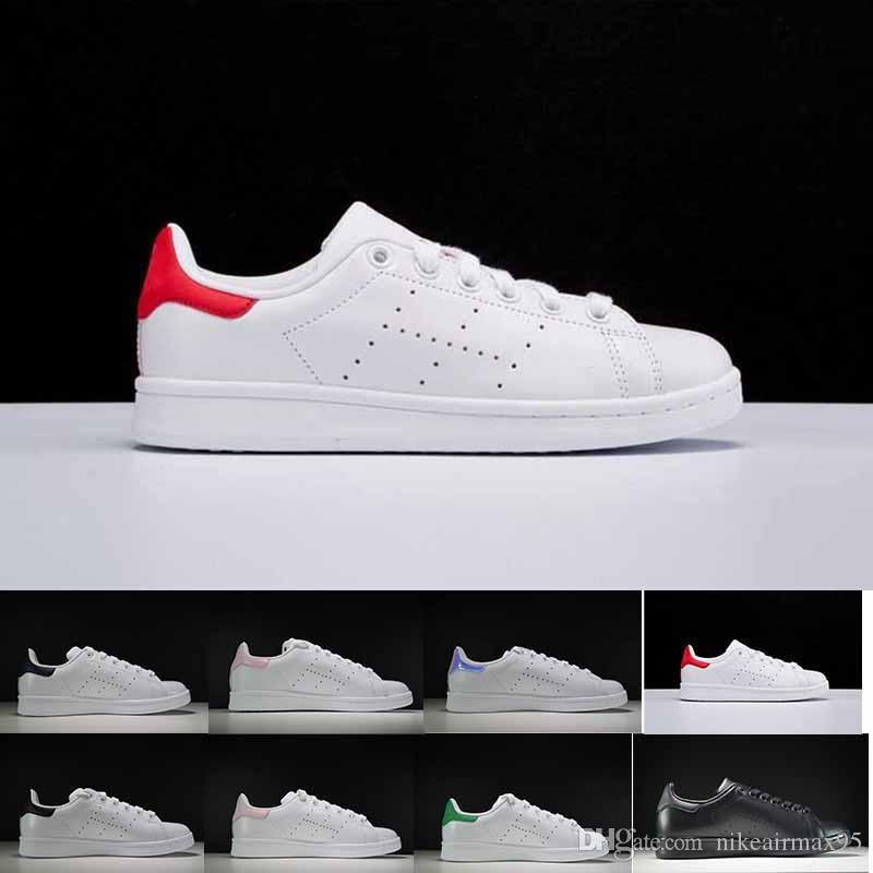 official photos 86902 af857 2018 Stan Smith Spring Copper White Pink Black Fashion Shoe Man Casual  Leather brand woman man shoes Flats Sneakers 36-46