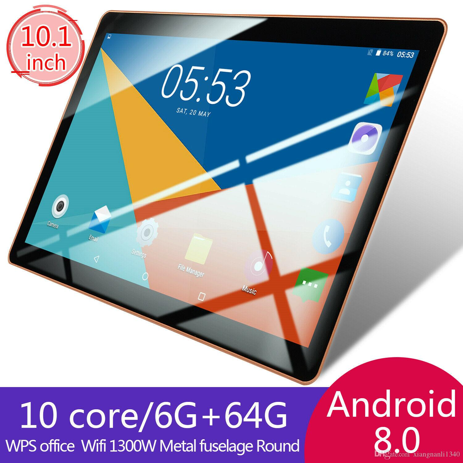 10.1inch HD Game Tablet Computer PC Ten Core Android 8.0 GPS 3G Wifi Dual Camera