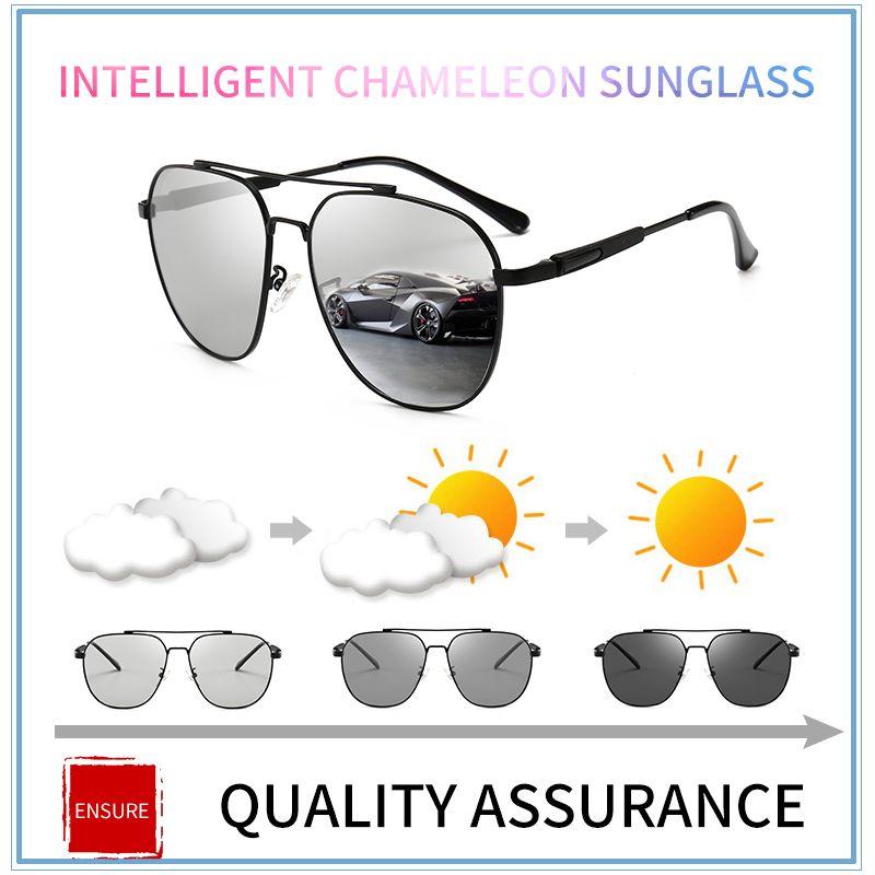 7fda40e556 2018 HD Men s Photochromic Polarized Sunglasses Men Polarized ...