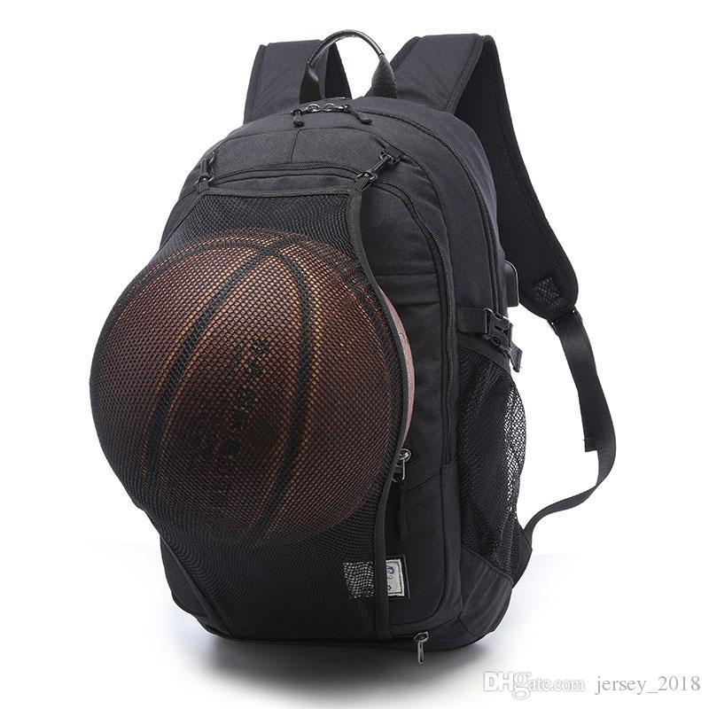 dc53a41e3b597 Großhandel Sporttasche Schwarz Outdoor Fitness Training Tasche Basketball  Rucksack Mann 15