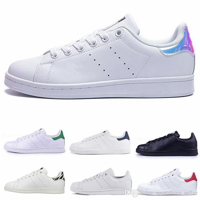 en soldes b840d 3b6d7 2019 Chaussures Stan Smith Hommes Femmes Stan Chaussures Mode Smith  Sneakers Chaussures Casual En Cuir Sport Classique Appartements Taille 36-44