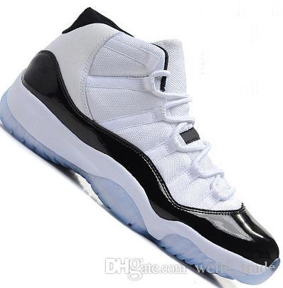 f4bf7189888 11 Mens 11s Basketball Shoes Concord 45 Platinum Tint Space Jam Gym ...