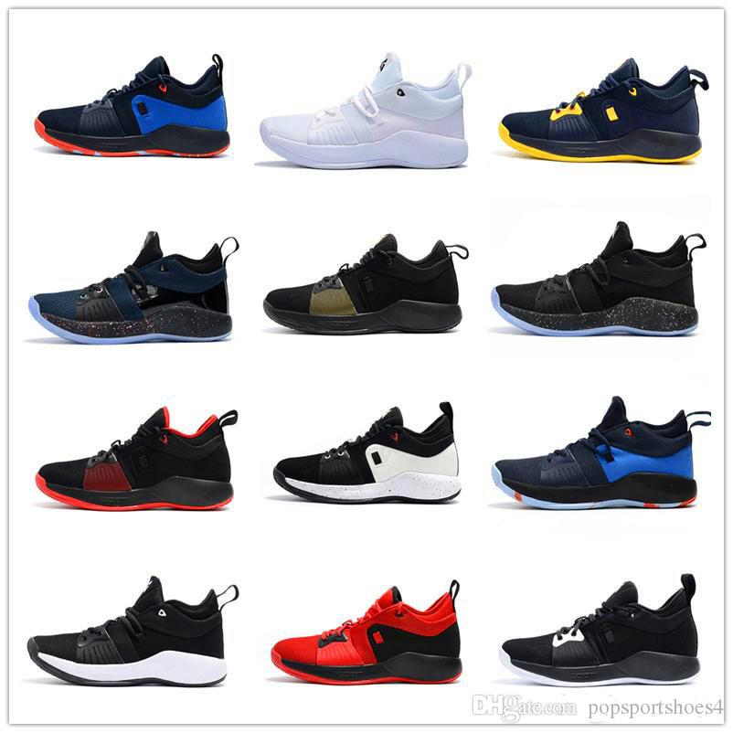 lowest price d91b0 c877c 2019 New top quality PG2 NCAA Men s Basketball Shoes All Star Mamba  Mentality PG 1 OKC Home Sports Shoes Trainers Size7.0-12
