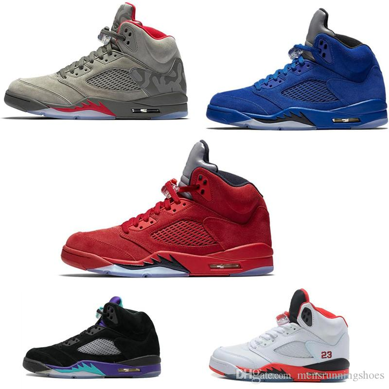 26d03a152558 2019 Cheap 5 5s Basketball Shoes Sneakers Mens Women Man Red Suede Wings Og  Bcfc Flight Orande Olympic Grape Oregon Ducks Designer Shoe From ...