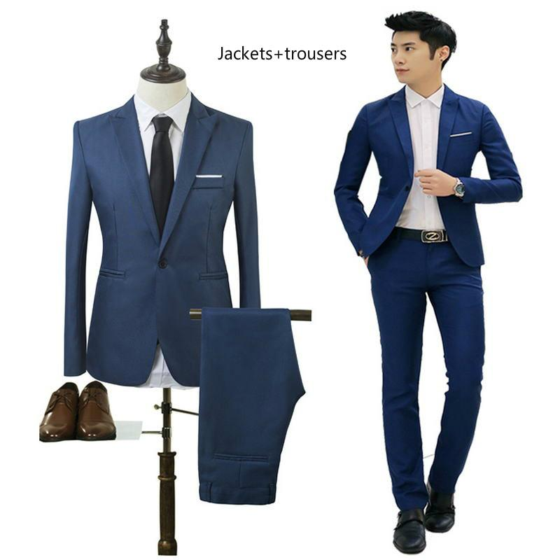 f638abfeb0b2c Satın Al Marka Erkek Elbise 2018 Ince Modeller Erkek Resmi Düğün Damat Takım  Elbise Bir Anahtar Kendini Yetiştirme Spor Ceket Smokin Ceket, $33.45 |  DHgate.