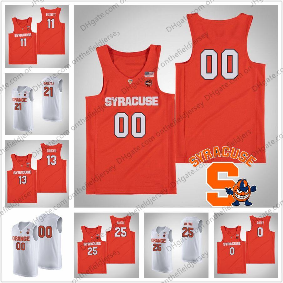 huge discount c2a4f 0fc5a Custom Syracuse Orange College Basketball Jersey Any Name Number #11 Oshae  Brissett 21 Marek Dolezaj 25 Tyus Battle 35 Buddy Boeheim S-4XL