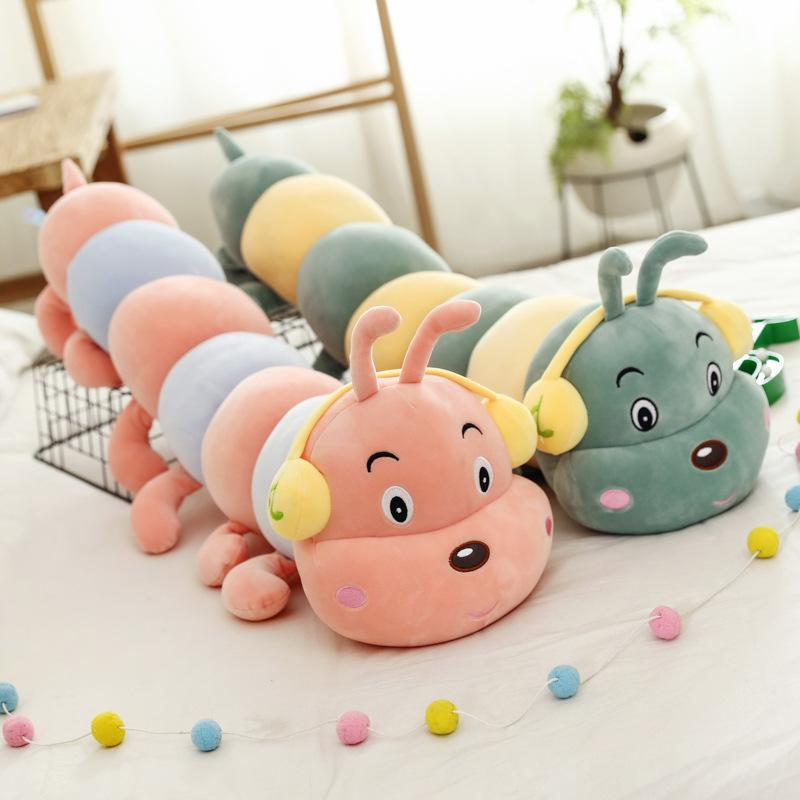 1pc Caterpillars Plush Kids Toys Soft Plush Pillow Animal Doll Boys Girls Toy Peluche Cushion For Children Gifts