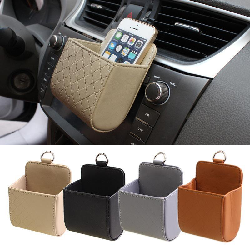 Car Air Outlet Storage Bag Auto Accessories Boxes Cars Small Leather Waterproof Phone Organizers Tools Colorful Types Instrument Ljjq203