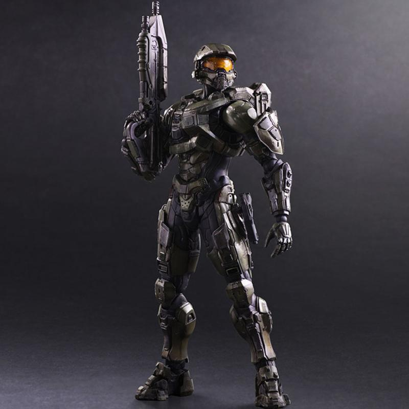 26cm Play Arts Kai Halo 5 Guardians No 1 Master Chief Movie Anime Pvc  Action Figures Toy Anime Figure Collection Model Toy Gifts