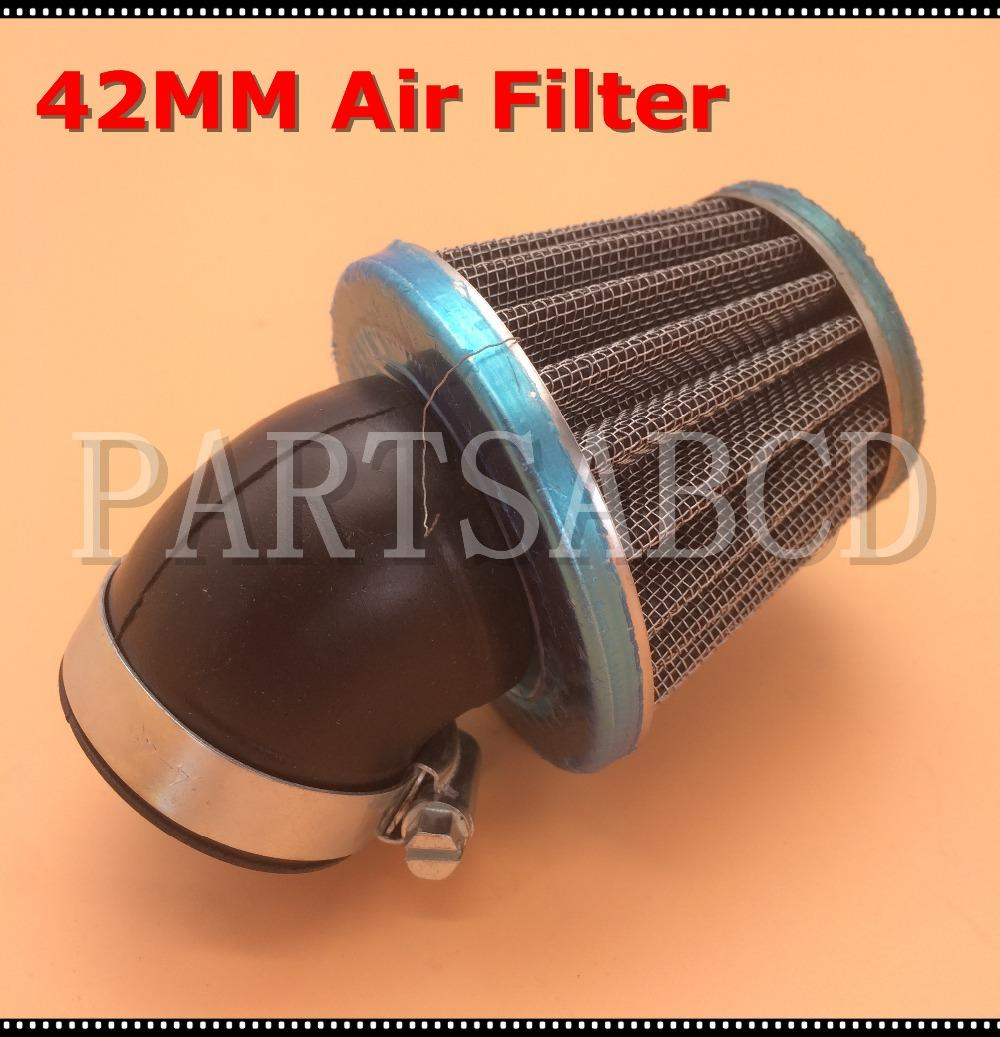 High Quality Universal 42mm Air Filter For ATV Quad Dirt Bike Pit bike Sooter and Go kart