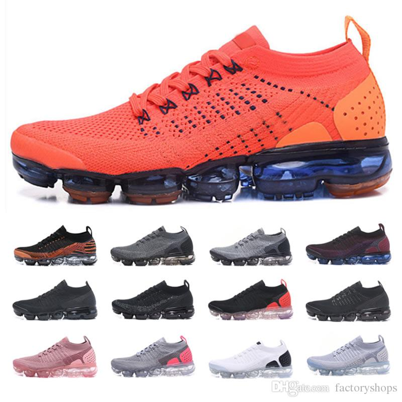 9f048a93b527 2019 Knit 2.0 Fly 1.0 Running Shoes Men Women BHM Red Orbit Metallic ...