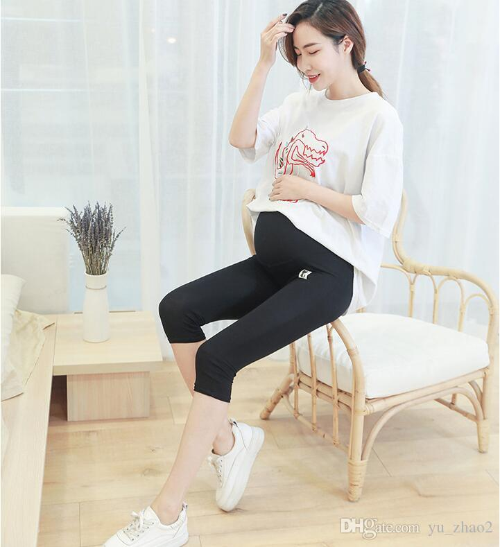 Pregnant women wear summer maternity pants five shorts maternity supplies support abdominal leggings pregnant women increase 200 jin
