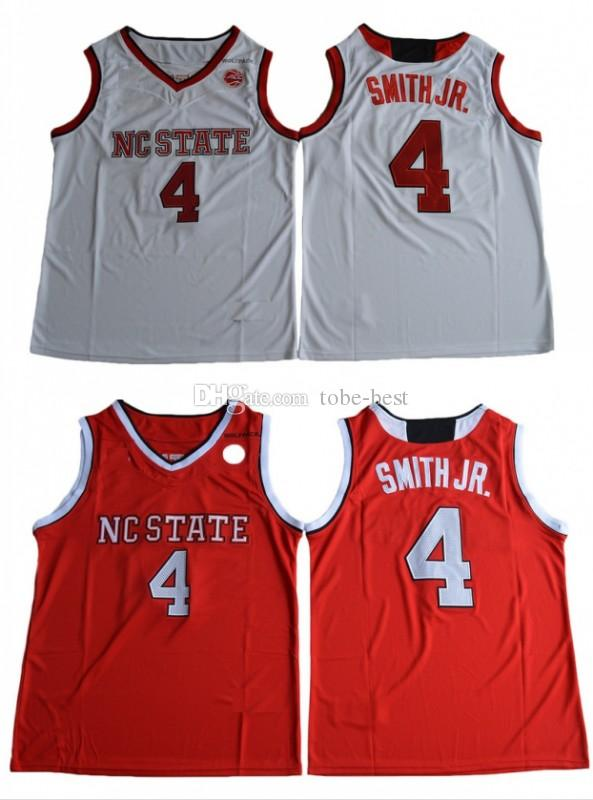 another chance 0451b 5e5bd Mens Vintage NC State Wolfpack Dennis Smith Jr. College Basketball Jerseys  Cheap Home Red #4 Dennis Smith Jr. Stitched Basketball Shirts