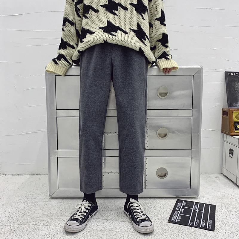 a6b298a43620 Autumn And Winter New Plus Velvet Thick Pants Men Stretch Casual Loose Hip  Hop Trousers Man Solid Color Joggers Sweatpants Male Online with  $34.34/Piece on ...
