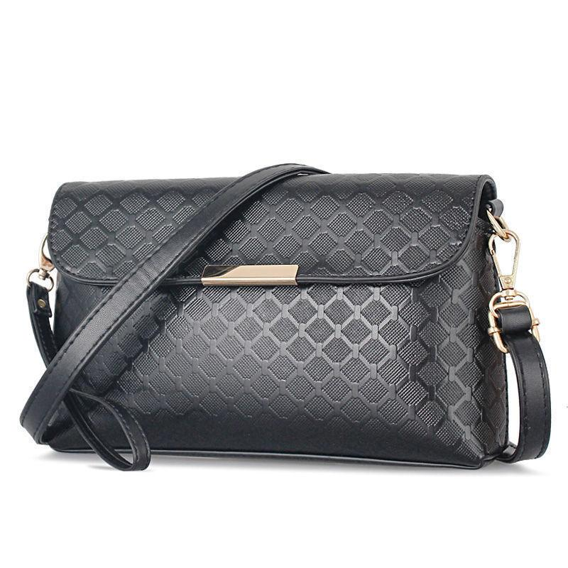 good quality Women Messenger Bags 2019 Wristlets Mini Ladies Shoulder Crossbody Bags Black Clutche Women Purse For Women Cheap Bag A343
