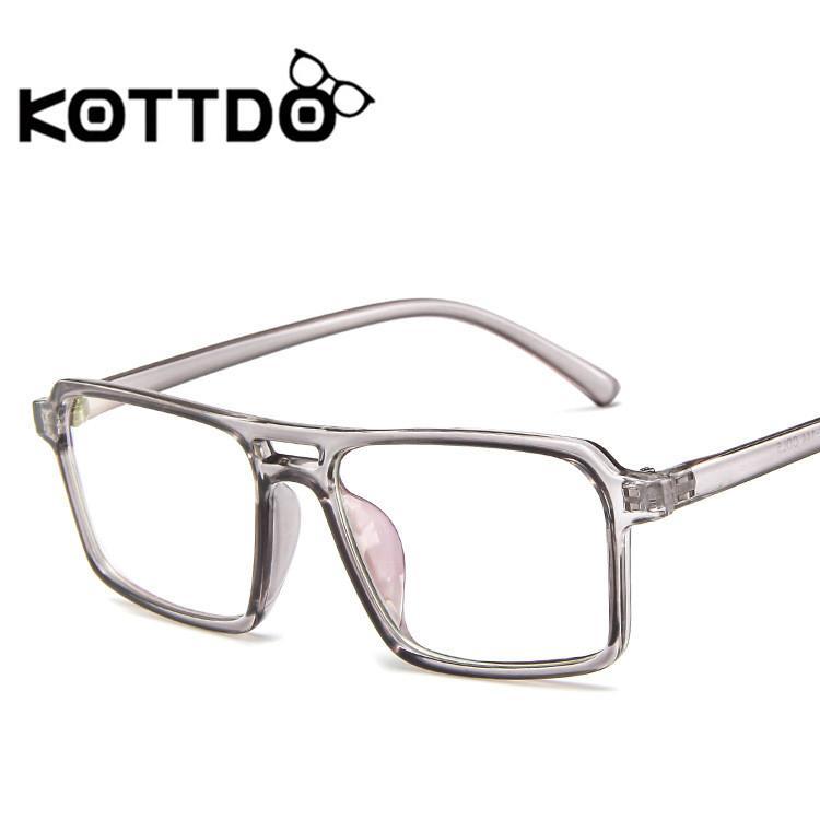 Compre Kottdo Praça De Plástico Homens Mulheres Óculos De Marca Designer De  Óculos Óculos De Armação De Óculos Óculos De Armação Transparente De  Taihangshan ... 686024b449