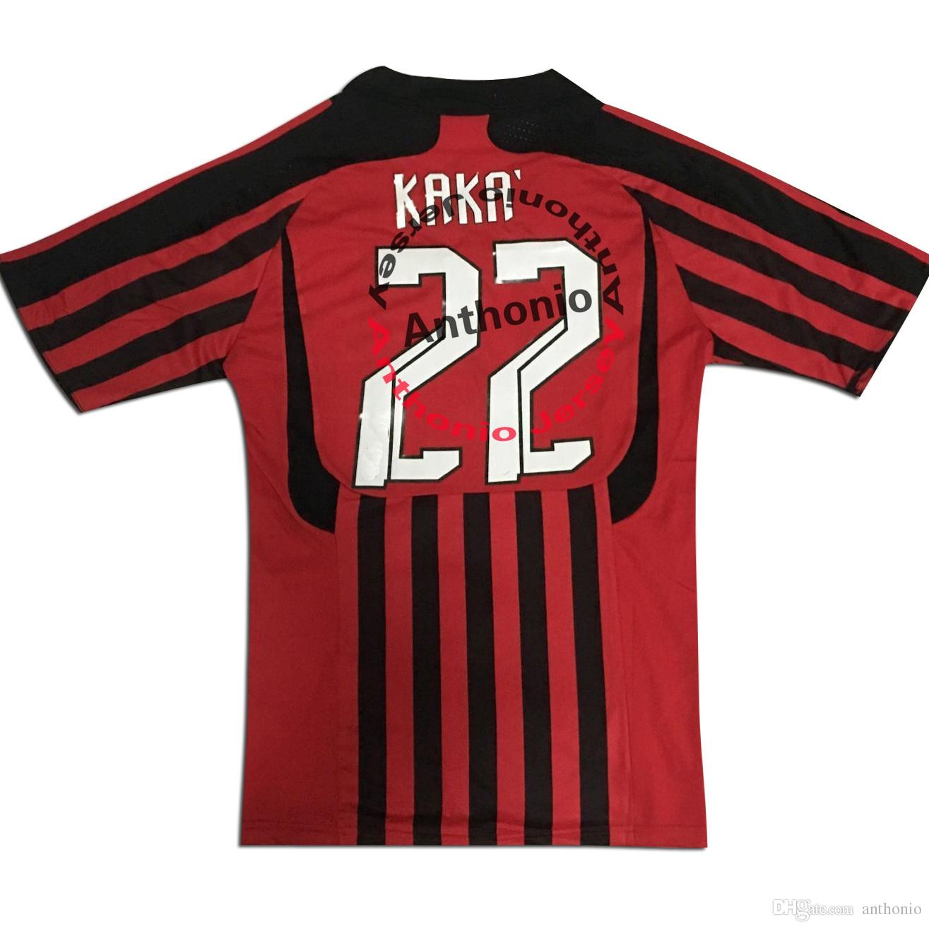 2007/08 RETRO VINTAGE CLASSIC KAKA 22 MALDINI 3 MAILLOT DE FOOT soccer uniform kits soccer jerseys thailand quality football shirts kit