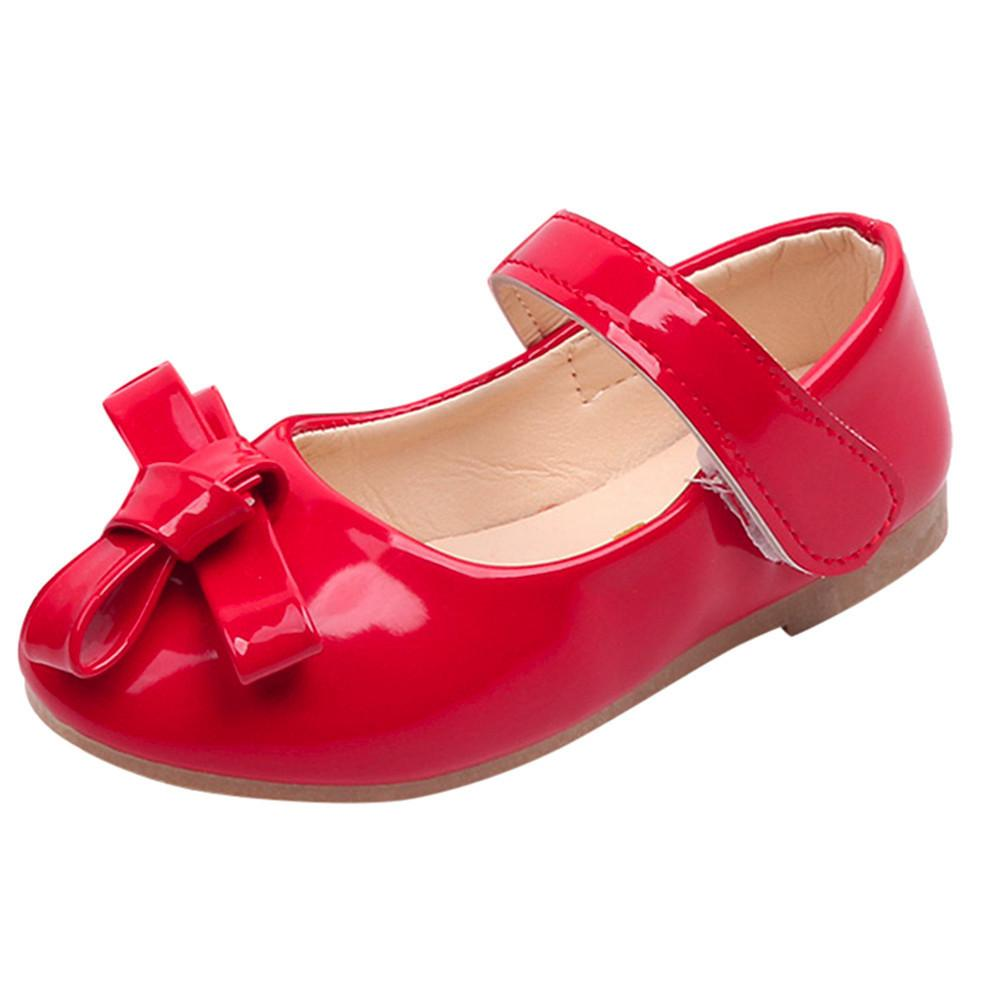 c4dcf39c7c9611 Good Quality Baby Children Shoes Kids Girls Bowknot Solid Princess Shoe  Casual Sneaker Single Shoes Sapato Infantil Cocuk Ayakkabi Leather Shose  Leather ...