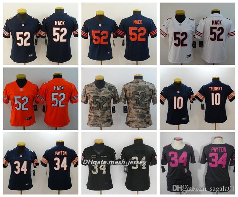 ... cheap 2019 women chicago bears american football jersey 52 khalil mack  10 mitchell trubisky 34 walter 165444500