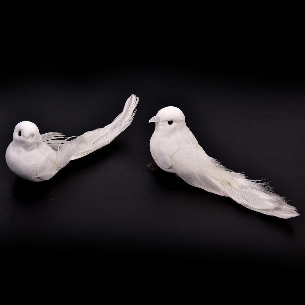 2019 Mengxiang White With Craft Birds Home Decor Wedding Decorations Adorable Decorative Doves Artificial Foam Feather C19041501 From Mingjing02
