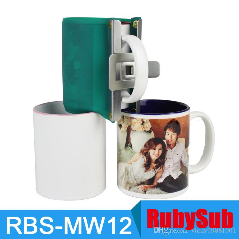20PCS/LOT 11oz 3D Sublimation Vacuum Machine Silicone Mug Wraps Rubber Mug  Clamps Cup Wraps Fixture for 3D Sublimation Mug Print
