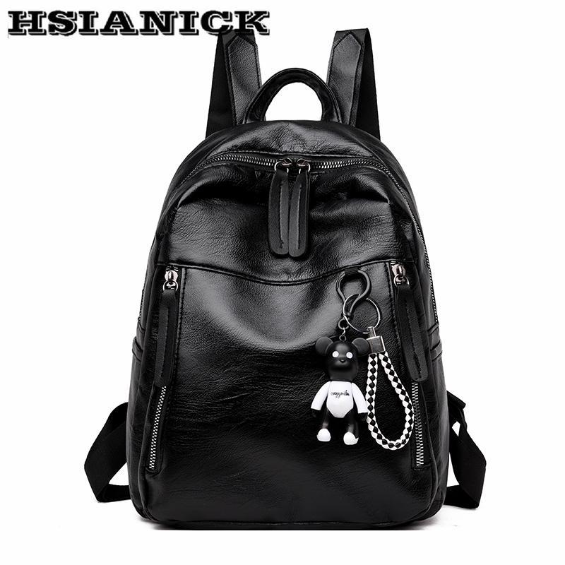 Fashion Backpack Female High Quality Small Backpack Soft Leather Pu ... 1a746181ad68e
