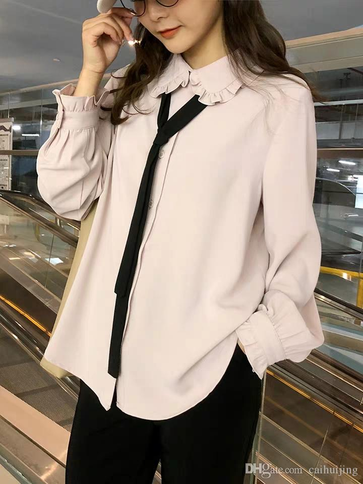 Air 2019 Blusa Corto Camisa Camisa Mujer Show De Mujer Compre A Caihuijing  95 Ocean De ... af70c54b60d