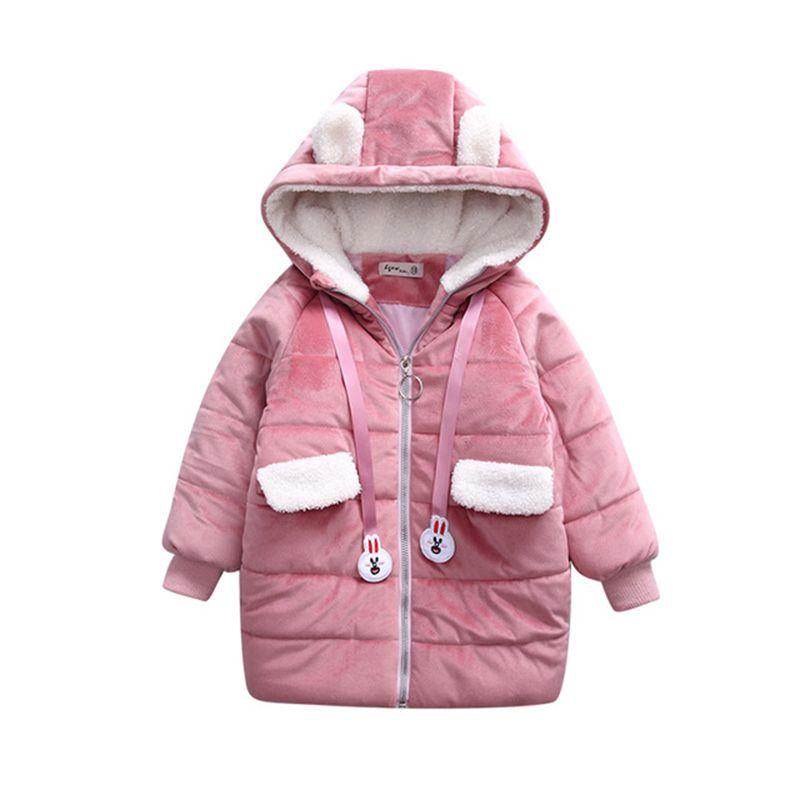da0bc684393e Rlyaeiz Autumn Winter Jacket For Girls 2018 Fashion Cute Gold Velvet ...