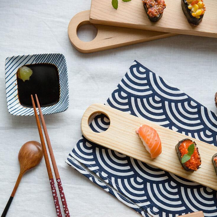 Fir Wood Japanese Style Dish Creative Sushi Wooden Food Dessert Disc  Kitchen Restaurant Supplies Wooden Dishes CCA10837 100pcs