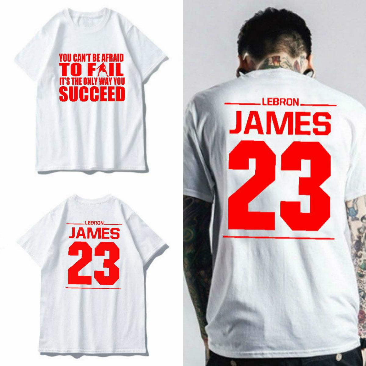 965b3a60c37b Lebron James  23 Inspirational Quotes T Shirts Men Summer Fashion Short  Sleeve O Neck Basketball Jersey And T Shirt T Shirt Makes From Luckycarol