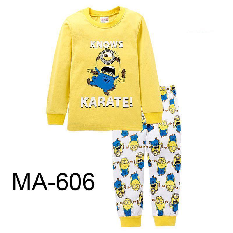 993d5b9b44f5 Wholesale Boys Yellow Pajamas Sets 2019 Kids Cartoon Pajamas ...