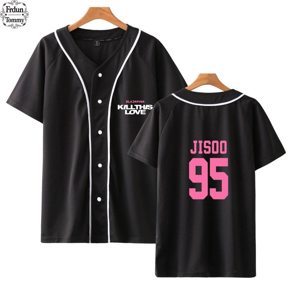 d8fa1fa1 Frdun BLACKPINK Kill This Love Fashion Printed Baseball T Shirts Men Short  Sleeve Tshirts Exclusive Streetwear Tee Shirts Awesome Tee Shirt Designs T  Shirts ...