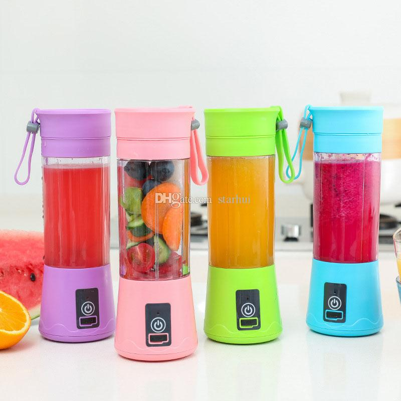 400ML Personal Blender With Travel Cup USB Portable Electric Juicer Blender Rechargeable Juicer Bottle Fruit Vegetable Tools DHL WX9-1681