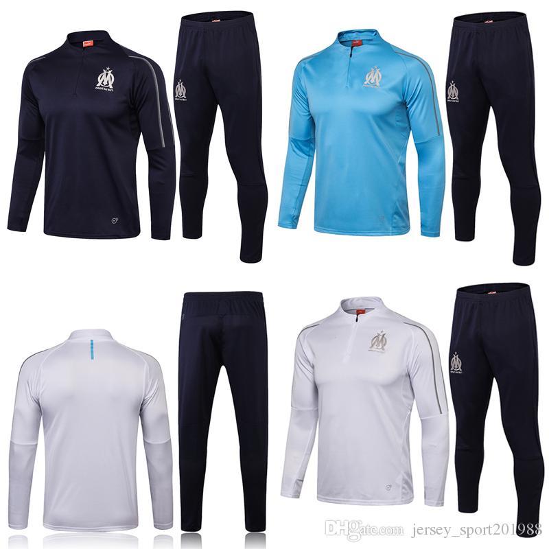 online store cheaper official 2018 2019 OM Olympique de Marseille survetement Jacket Kits PAYET THAUVIN  training suit Soccer 18 19 Tracksuit Sets Football