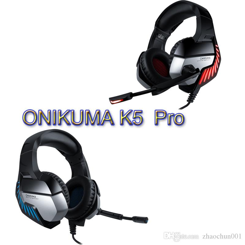Onikuma K5pro Casque Ps4 Gaming Headset Pc Gamer Bass Headphones