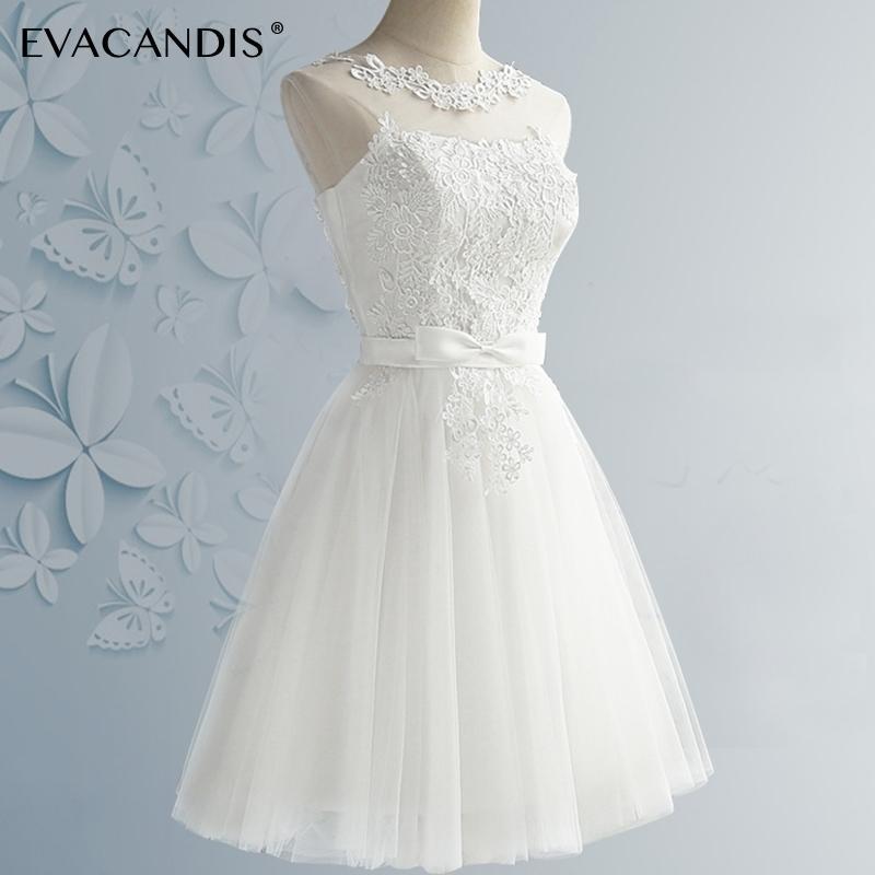 a156d53532e1 2019 Short Lace Party Dress Plus Size White Sleeveless Backless Prom  Elegant Evening Summer Dress Women Christmas Vestidos De Fiesta Y19012201  From Tao02
