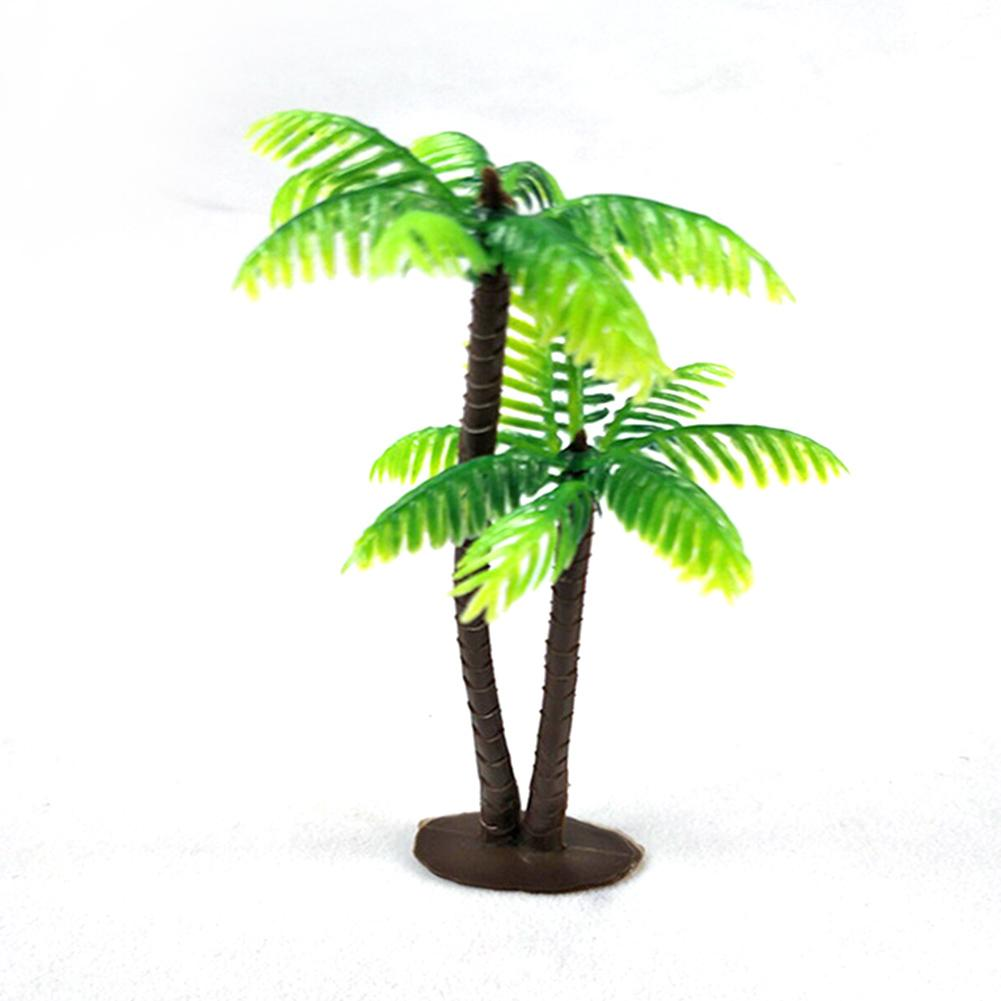 Decoration Mini Landscape Home Ornament Photo Props Coconut Fish Tank Simulation Tree Plants Aquarium Garden